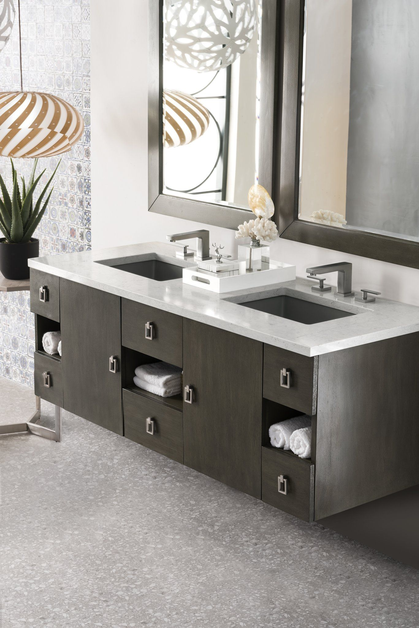 "Sonoma 60"" Double Bathroom Vanity | Modern master bathroom ..."