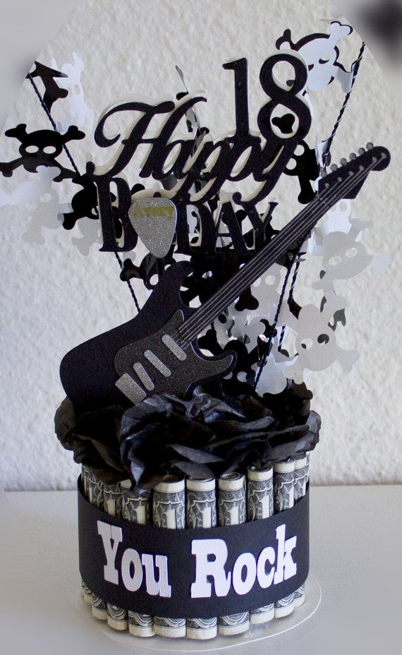 Money Cake Happy Birthday Guitar Rock Star by NewECreativeGifts