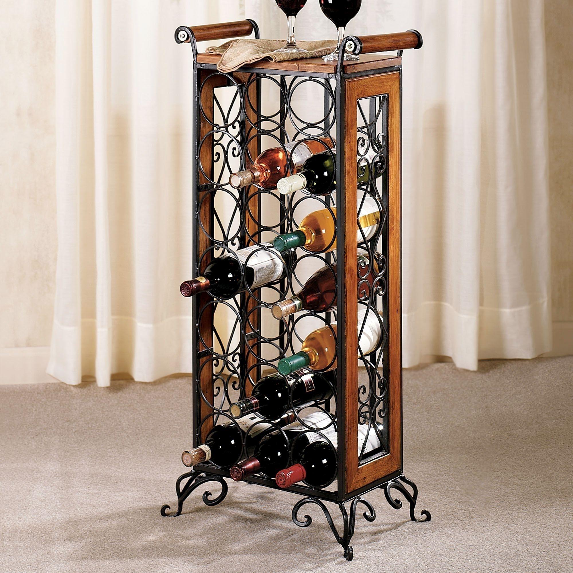 Wrought Iron Wine Wall Decor Wrought Iron Corner Wine Rack Liquor Storage Cabinet  Http