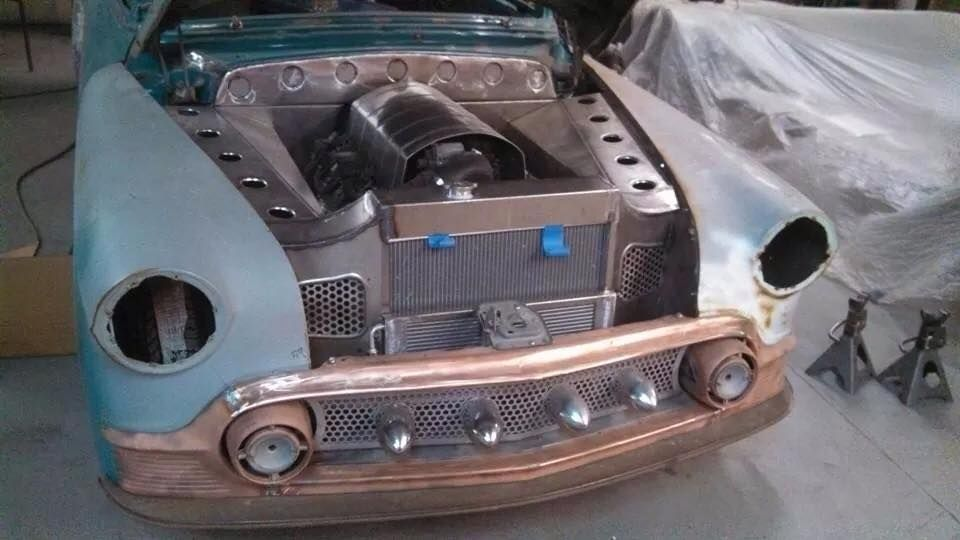 Custom Engine Bay Sheet Metal Work With Dimple Died Speed
