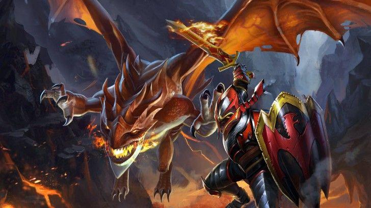 Davion Dragon Knight Dota 2 Hd Wallpaper Sword Shield Dota