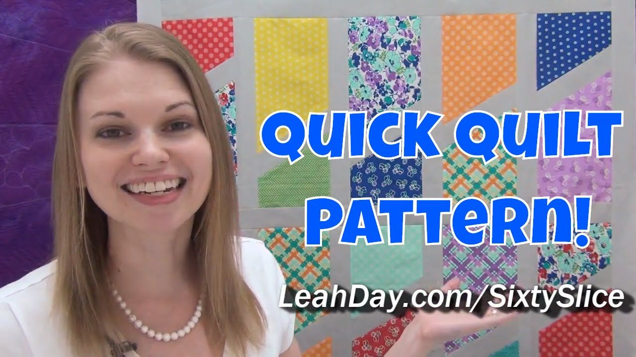 Quick And Easy Sixty Slice Quilt Tutorial Free Quilt Pattern By Leah Day Quilting Tutorials Quilt Patterns Patchwork Tutorial