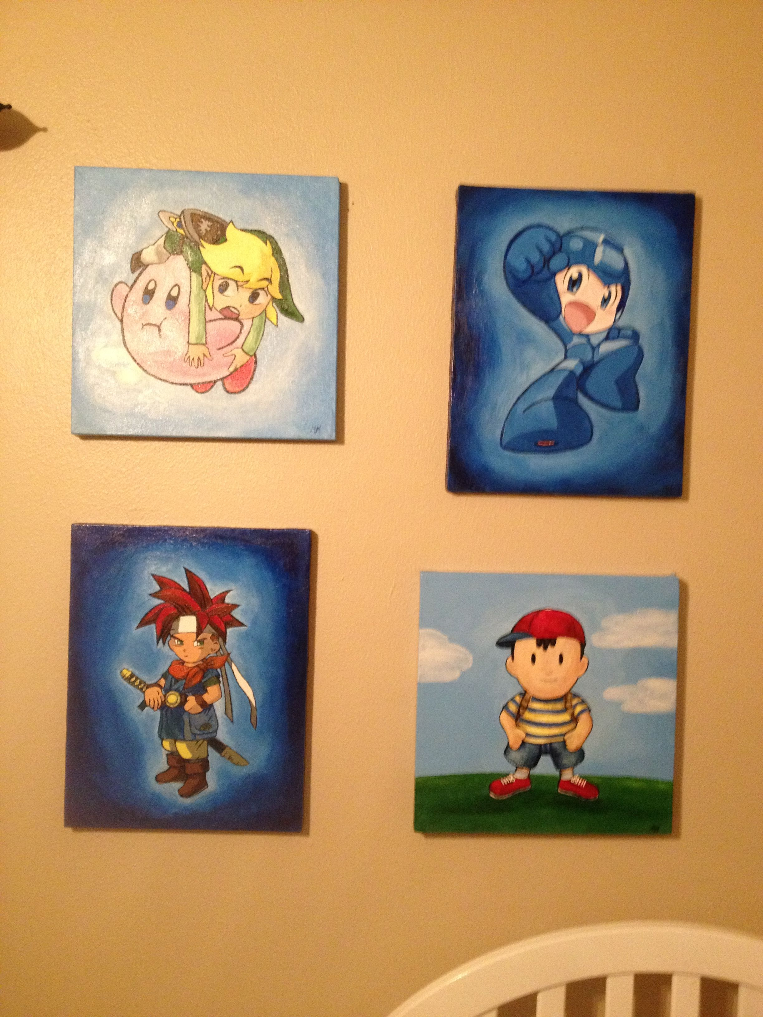 Canvas paintings done by Mandy Milan for baby Link.