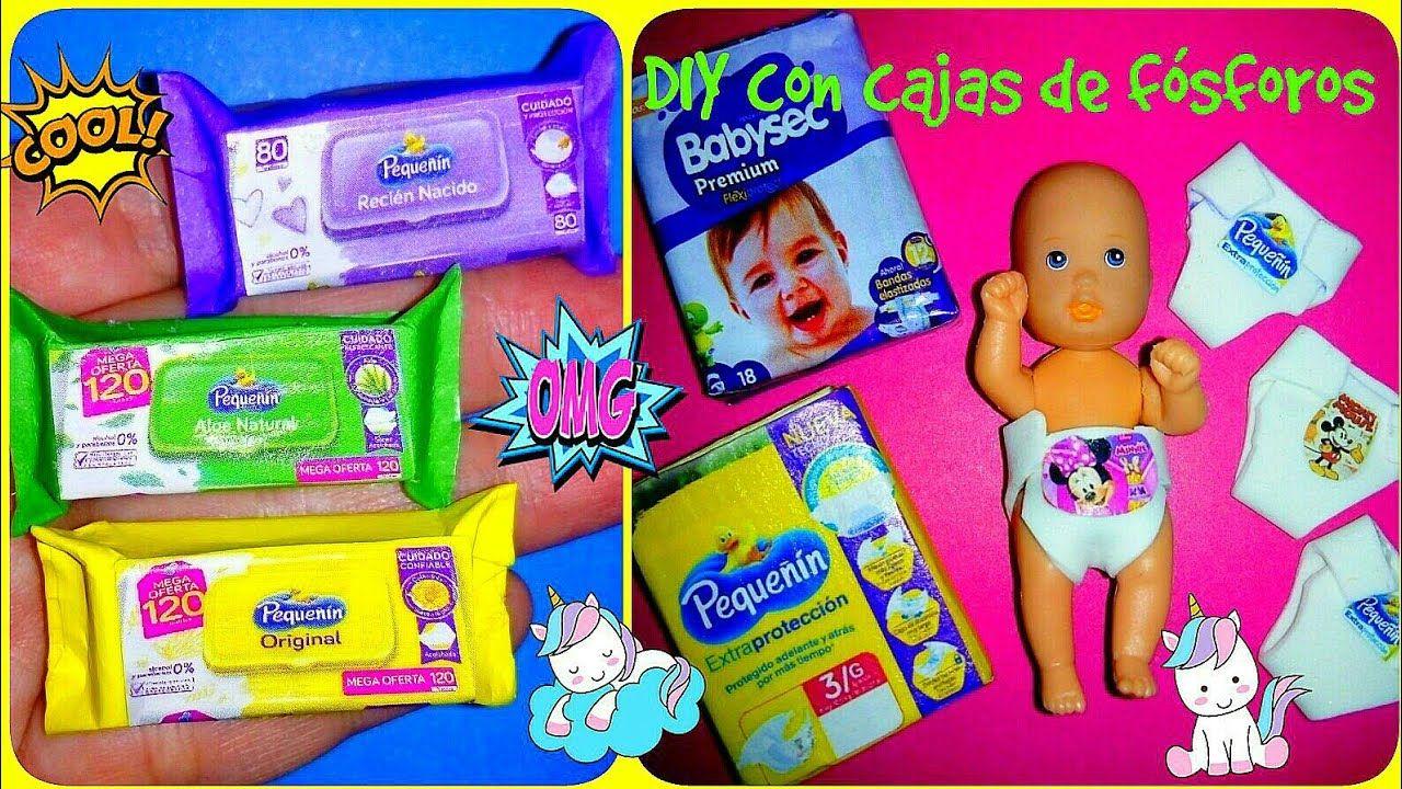 Diy Cosas Fáciles De Hacer Con Cajas De Fósforos Como Hacer Pañales Y Pañitos Para Bebe De Barbie Youtube