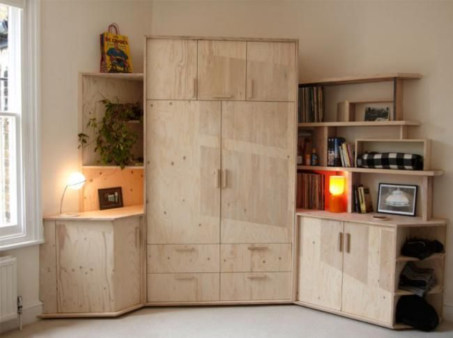 London Based Hendzel And Huntu0027s Custom 12 Ou0027Clock Shadow Cabinet, Crafted  From Salvaged Plywood And Door Frames, Captures The Shadows Cast On A Sunny  ...