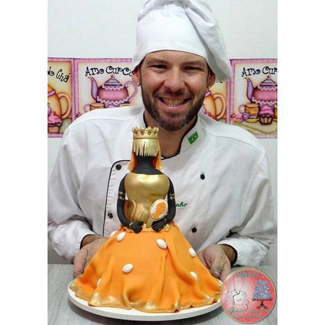 Bolo Oxum! #oxum #ossun #orixa #candomble #umbanda #cupcake #