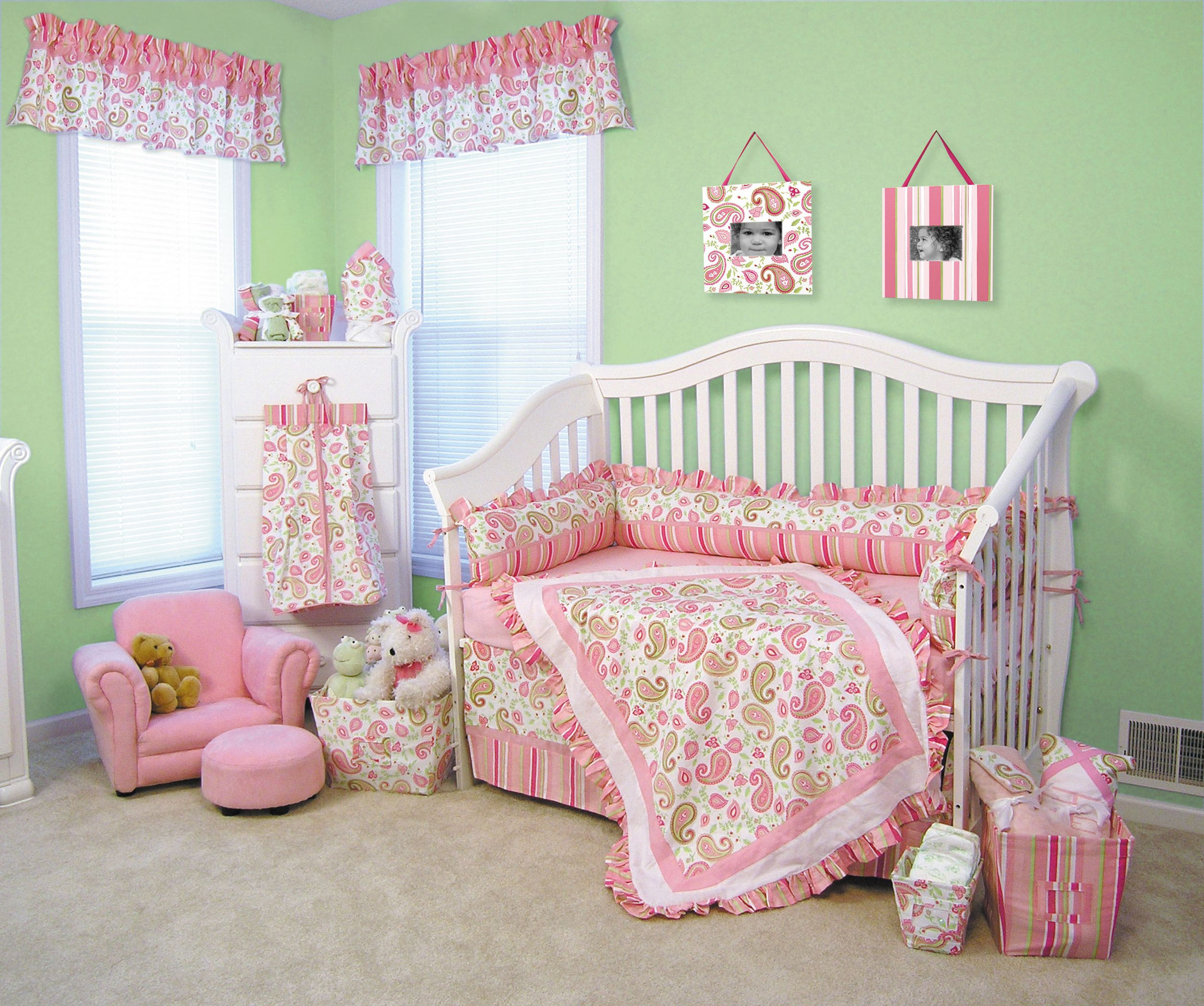 Surprising Paisley Crib Sheets Part - 17: Paisley Bedding | Pink Paisley Crib Bedding, Pink Paisley Baby Beding,  Trend-lab Paisley .