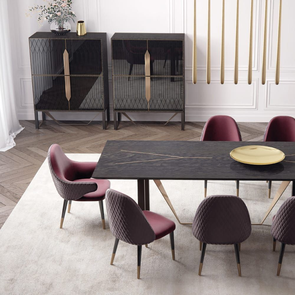 126 Custom Luxury Dining Room Interior Designs: 2020 的 Modern Italian Designer Luxury Veneered Dining