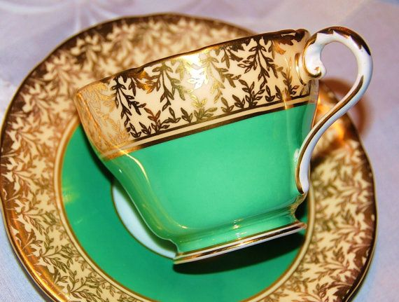 Aynsley Tea Cup and Saucer $41