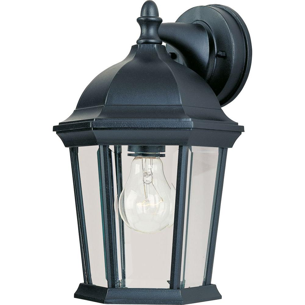 Maxim Lighting Builder Cast 1 Light Black Outdoor Wall Mount Sconce 1024bk Black Outdoor Wall Lights Outdoor Sconces Outdoor Wall Lantern