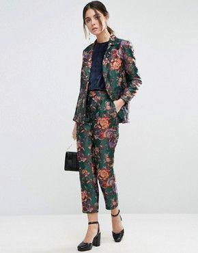 Womens Patterned Pant Suit