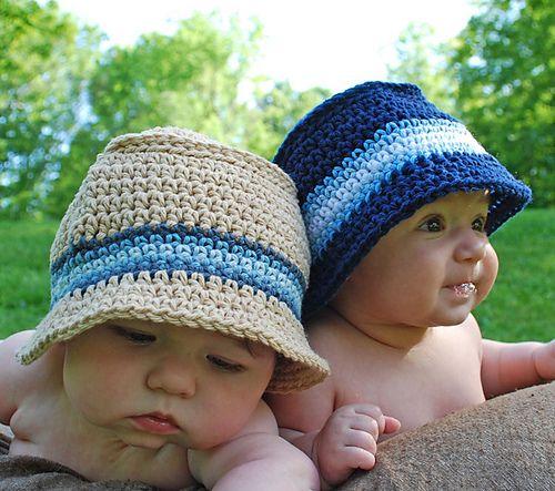 Bucket Hat pattern by Stephanie Oltmann | Gehäkelte mützen, Mütze ...