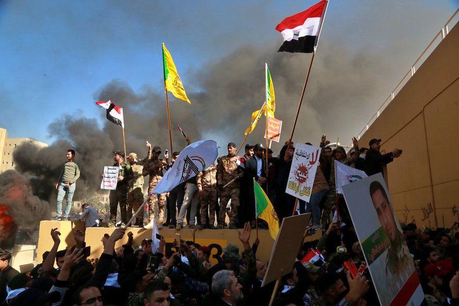 Us Embassy In Baghdad Breach Trump Blames Iran Baghdad Iraq Iraqi