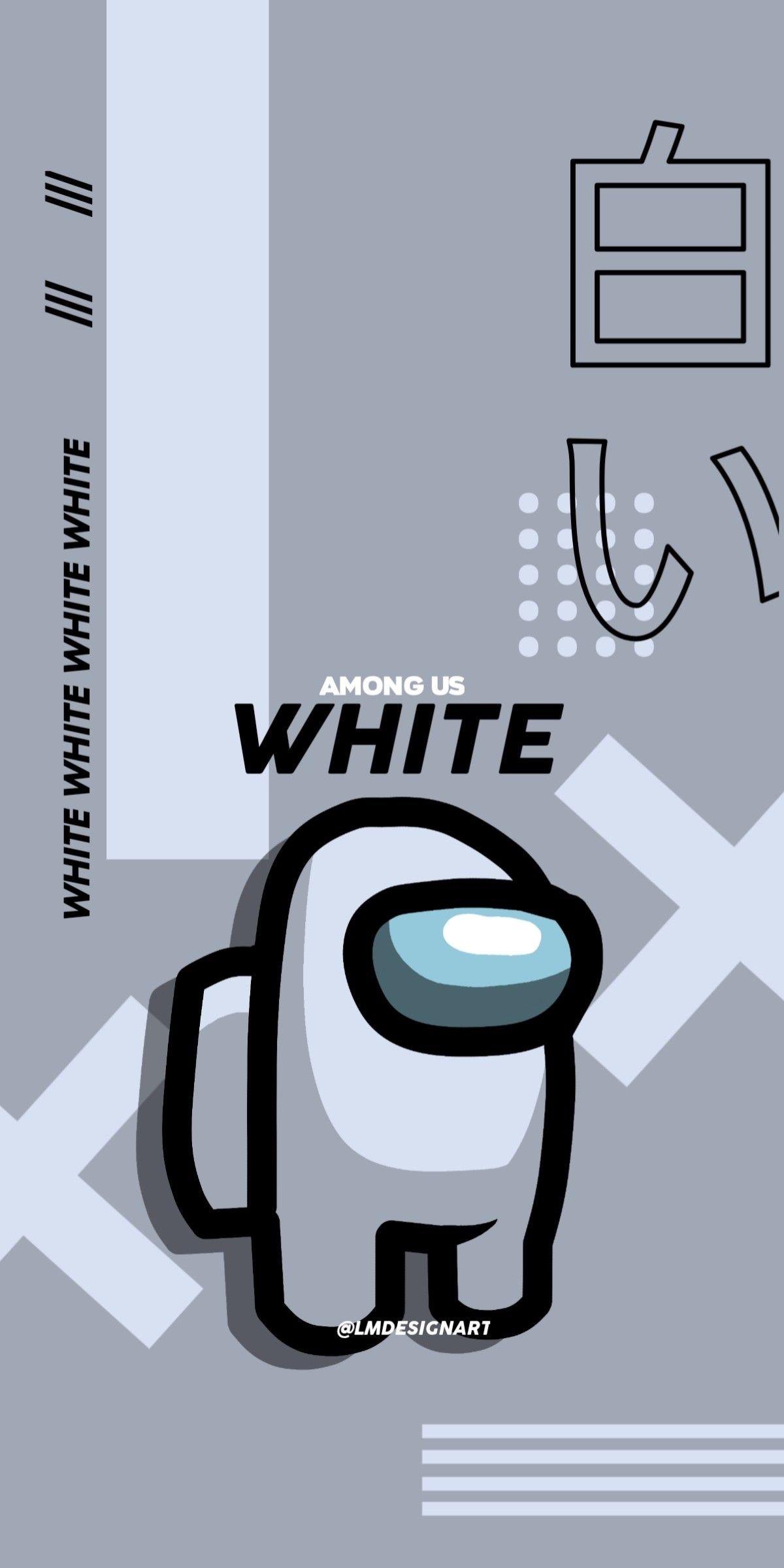 Among Us White Cute Cartoon Wallpapers Funny Phone Wallpaper Cute Patterns Wallpaper