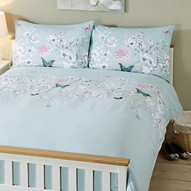 By Sainsbury S Embroidered Erfly Print Duvet Cover Set
