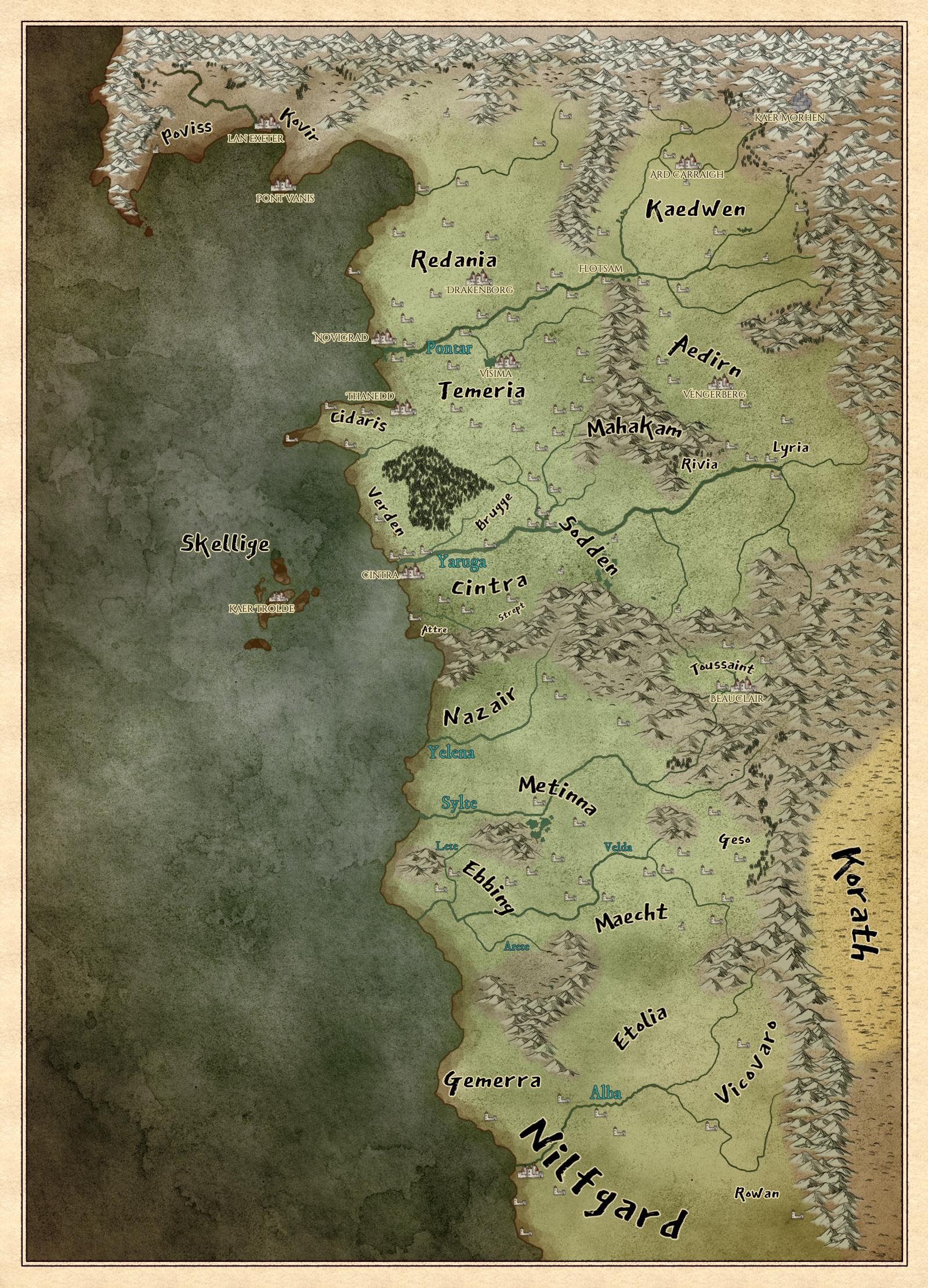 Witcher 3 Toussaint Map : witcher, toussaint, Witcher, World, Witcher,, Fantasy, Books