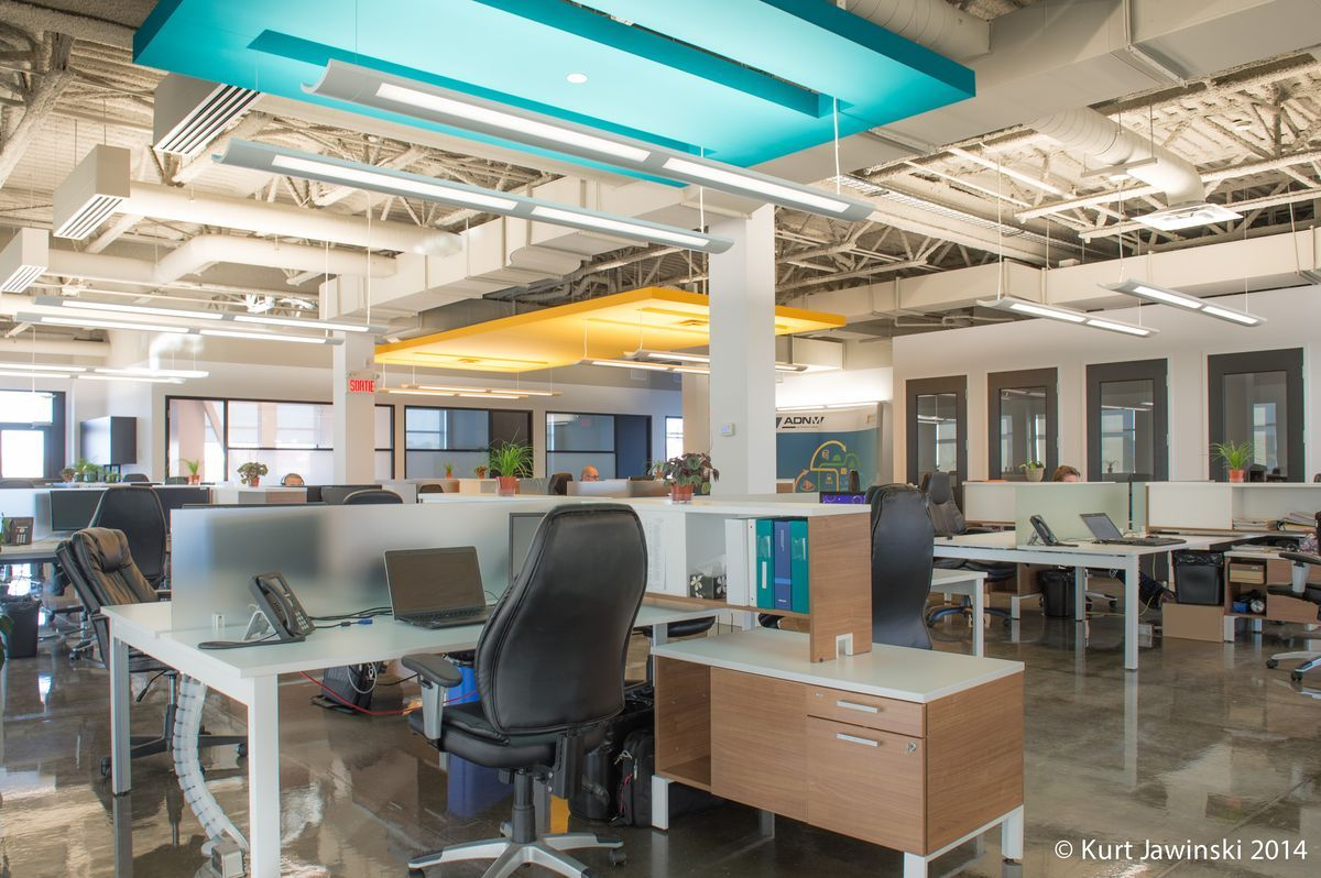 Projet adnm international office punch ceiling architectural