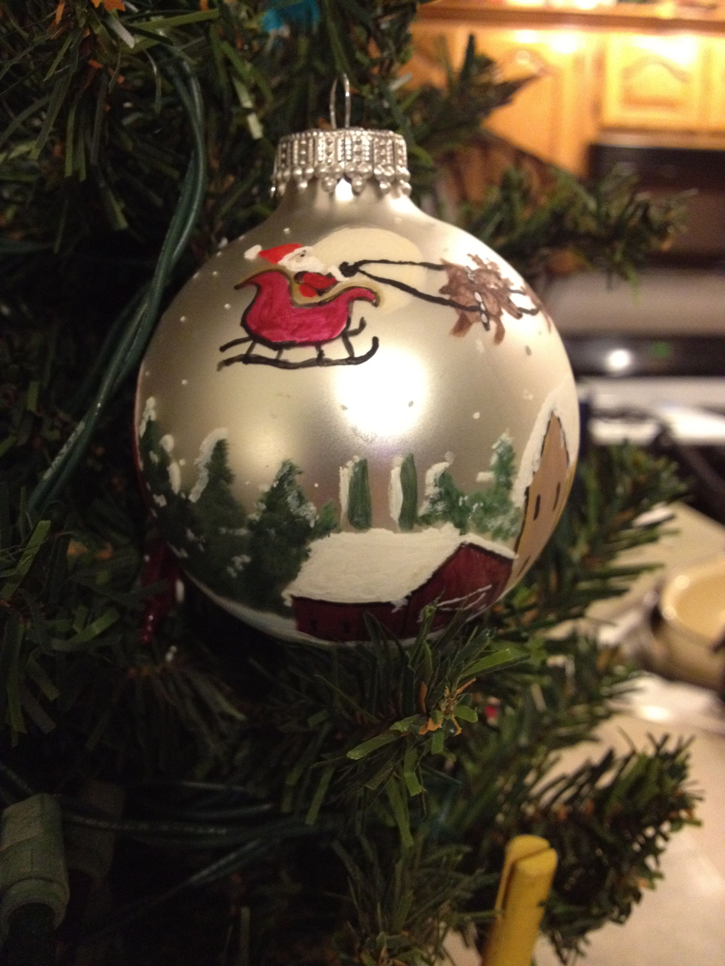 Hand painted Christmas ornament I painted
