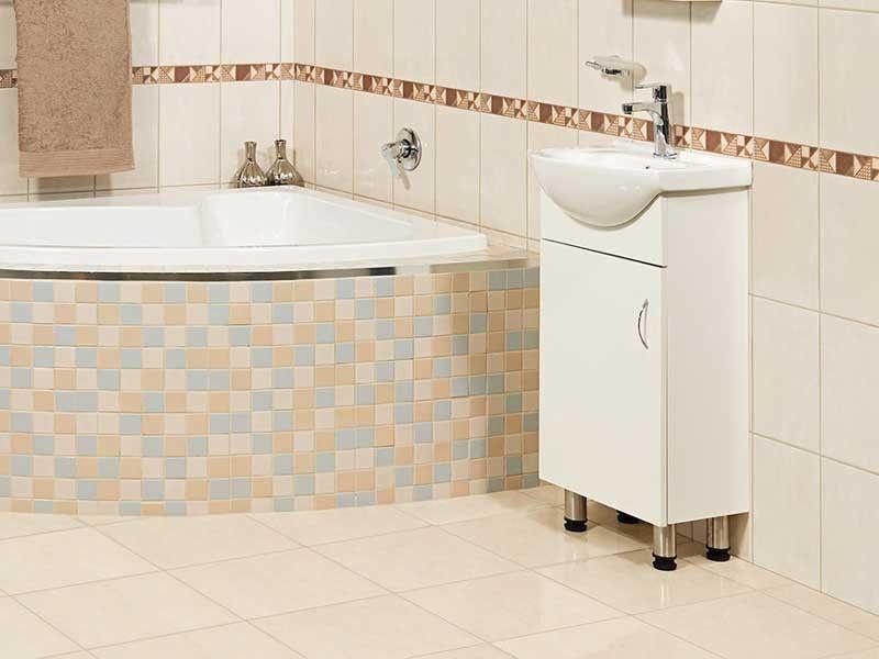 White Basico 450 Cabinet Basin Ctm Basin Cabinet Beautiful Bathrooms