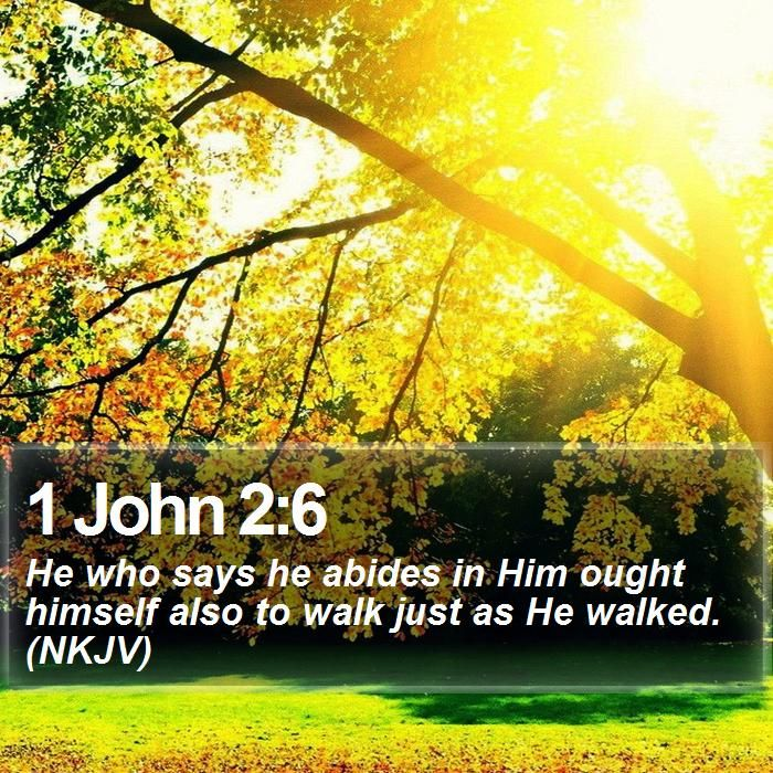1 john 2 6 he who says he abides in him ought himself also to walk