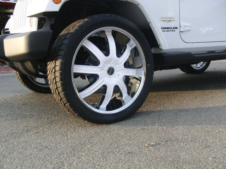 Color matched on a jeep rims and tires jeep car wheel