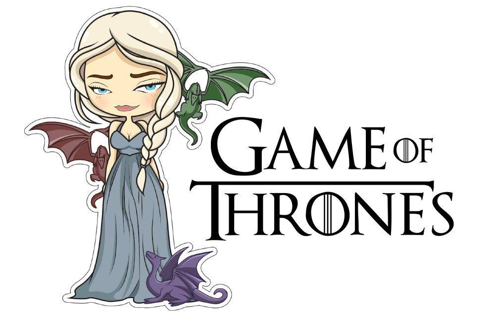 Khaleesi Daenerys Game Of Thrones Sticker Clipart Illustration