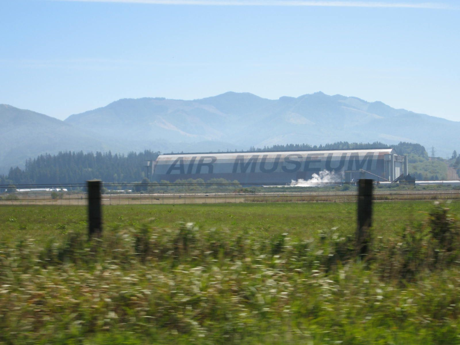 Blimp hangar from WWII at Tillamook, Oregon. Now houses an