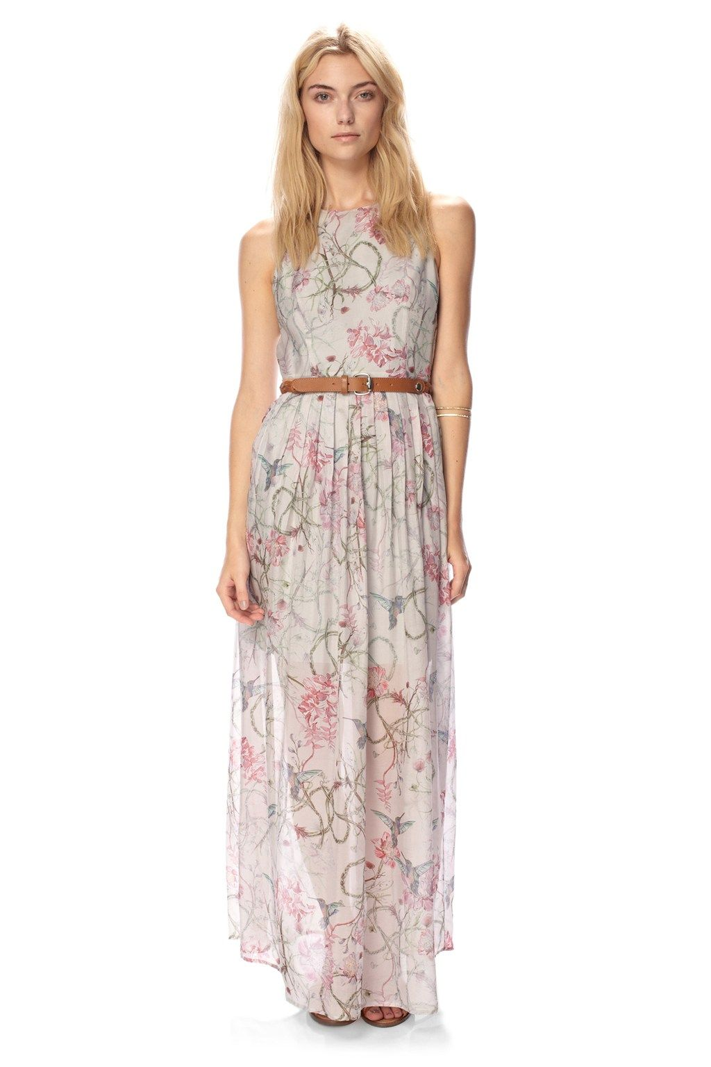 Eden Of Zola Silk Maxi Dress - Dresses - French Connection Usa ...