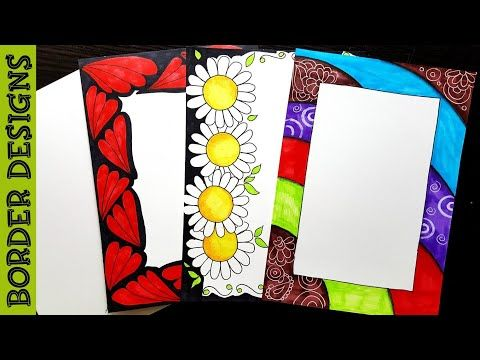 Youtube borders for paper border design projects also ribbon draw designs on project rh pinterest