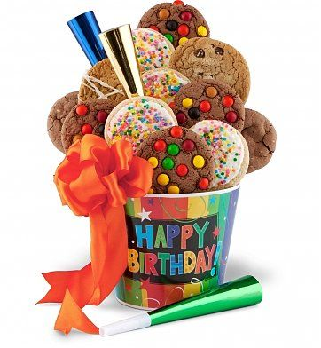 80th Birthday Cookie Gift Basket Is A Fun And Affordable For The Senior With Sweet Tooth