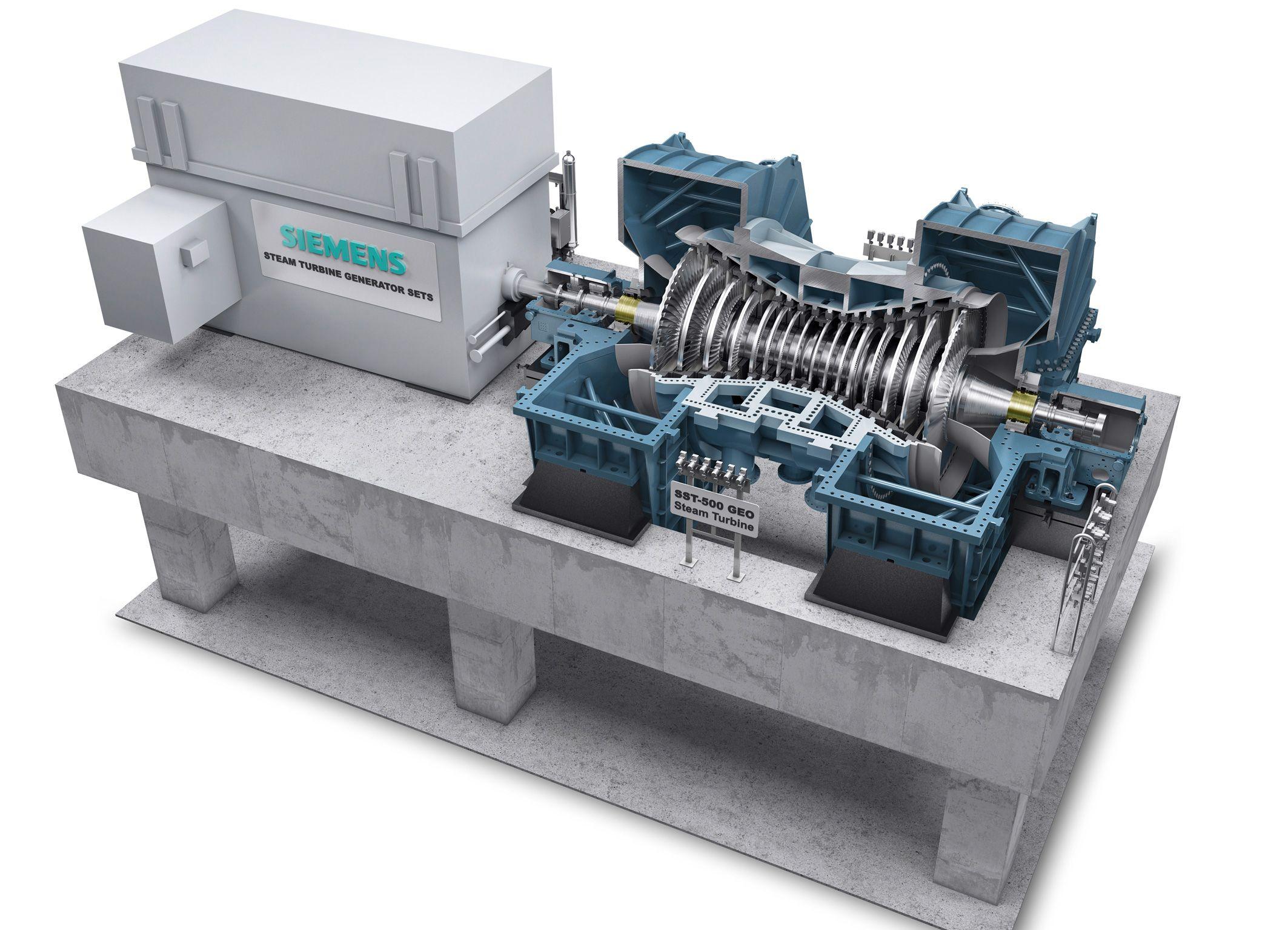 Siemens Develops Sst 500 Geo Steam Turbine For Geothermal Power Plant Layout Diagram Plants