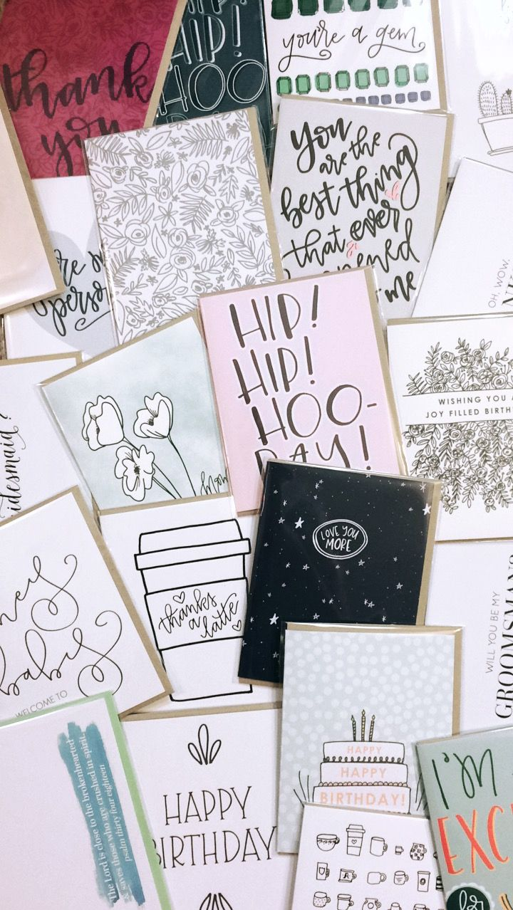 Hand Lettered Greeting Cards By Instead Of Ashes Shopsmall
