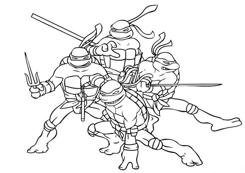 Ausmalbilder Ninja Turtles Symbol Superhelden Malvorlagen