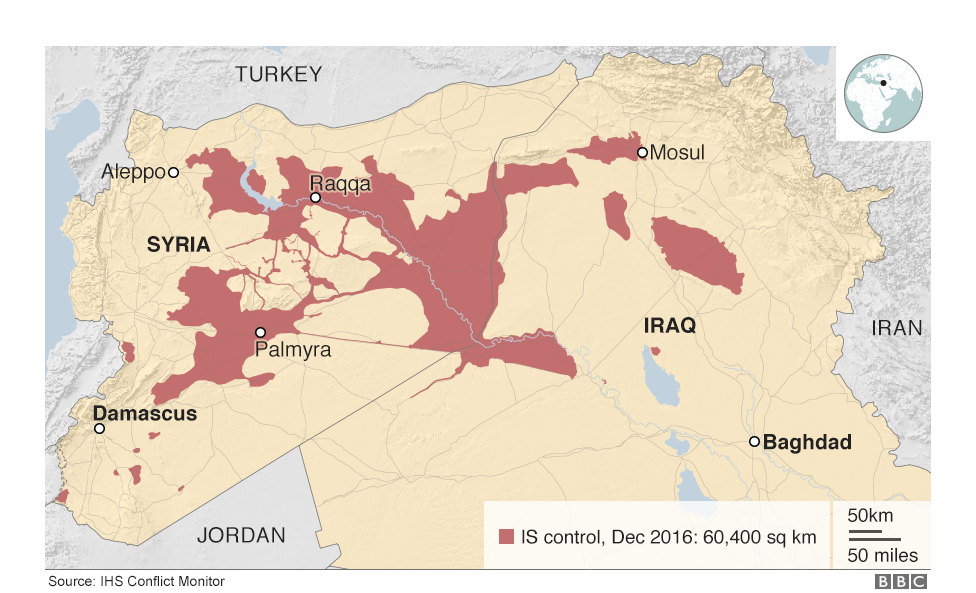 The war against \'Islamic State\' in maps and charts
