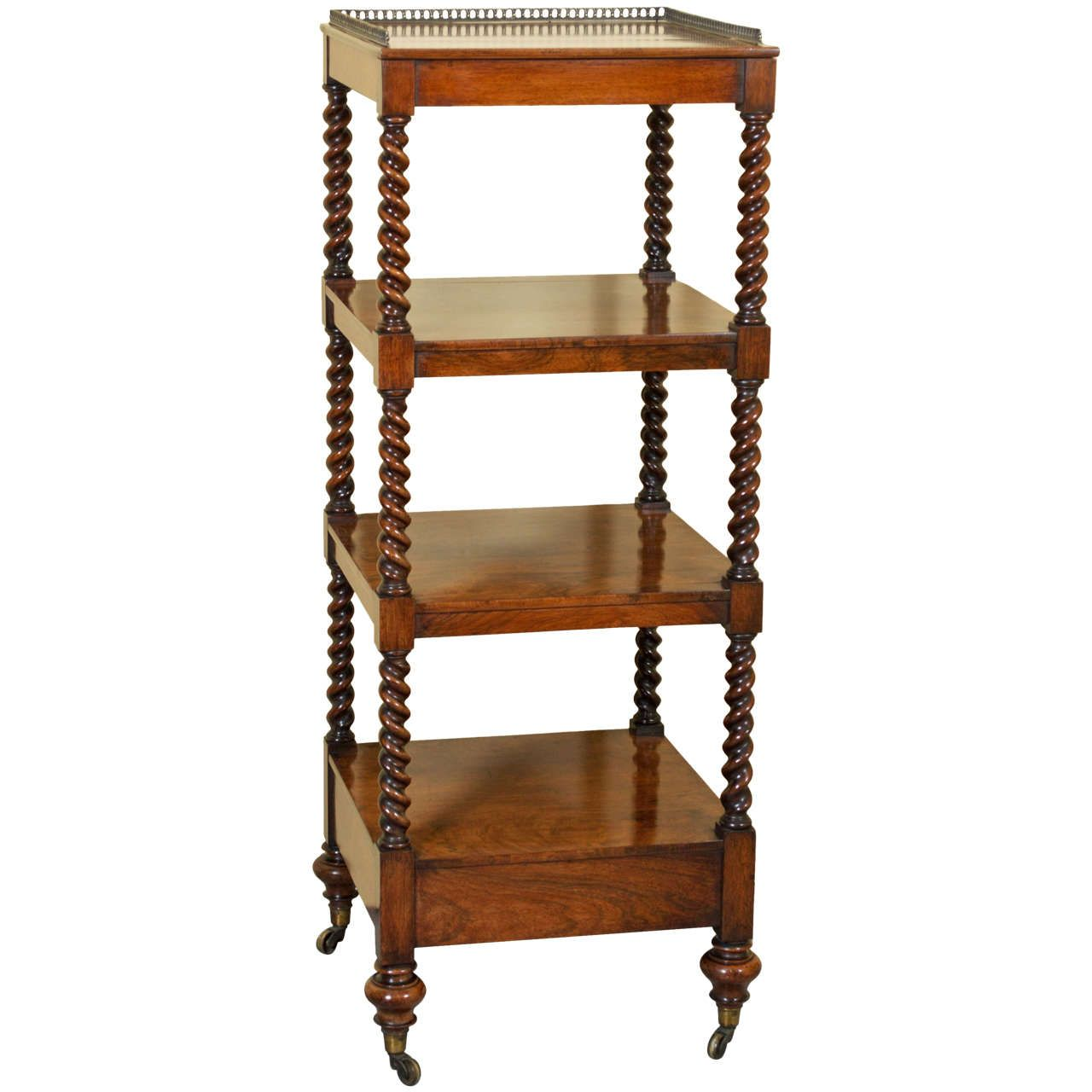 Ordinaire 19th Century Victorian Rosewood Whatnot Or Etagere