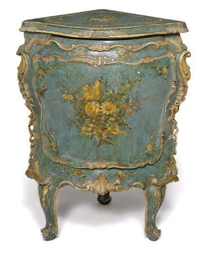 Rokoko encoignure italien venedig mitte 18 jahrhundert - Antike schlafzimmermobel ...