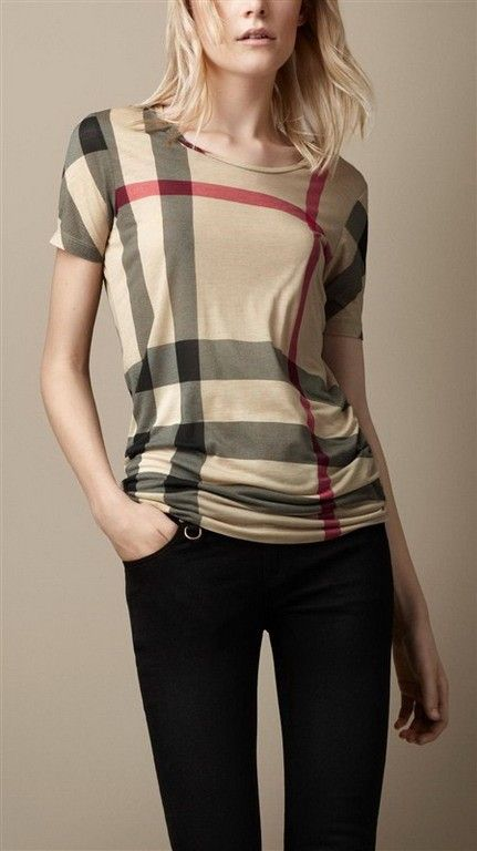 cheap discount Burberry Women Short Sleeve Tees SNBURSTSW075   28.00 ... bd53c852d0c