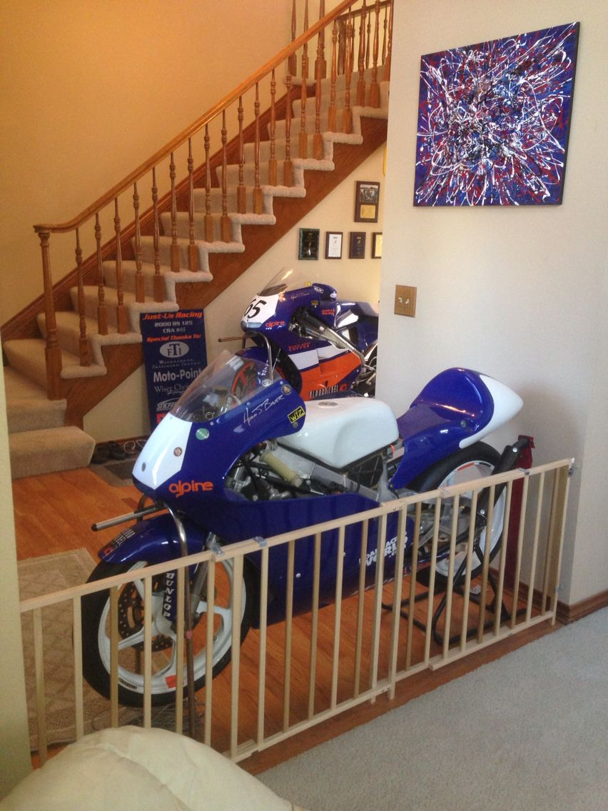 2000 Honda RS250 & RS125 in my house for the winter.