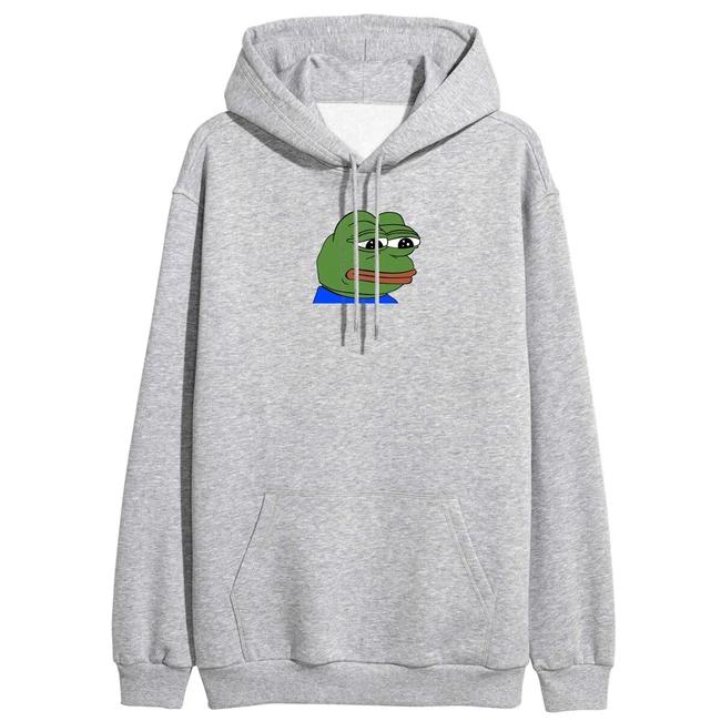 Sad Frog Print Hoodie #vaporwaveaesthetic