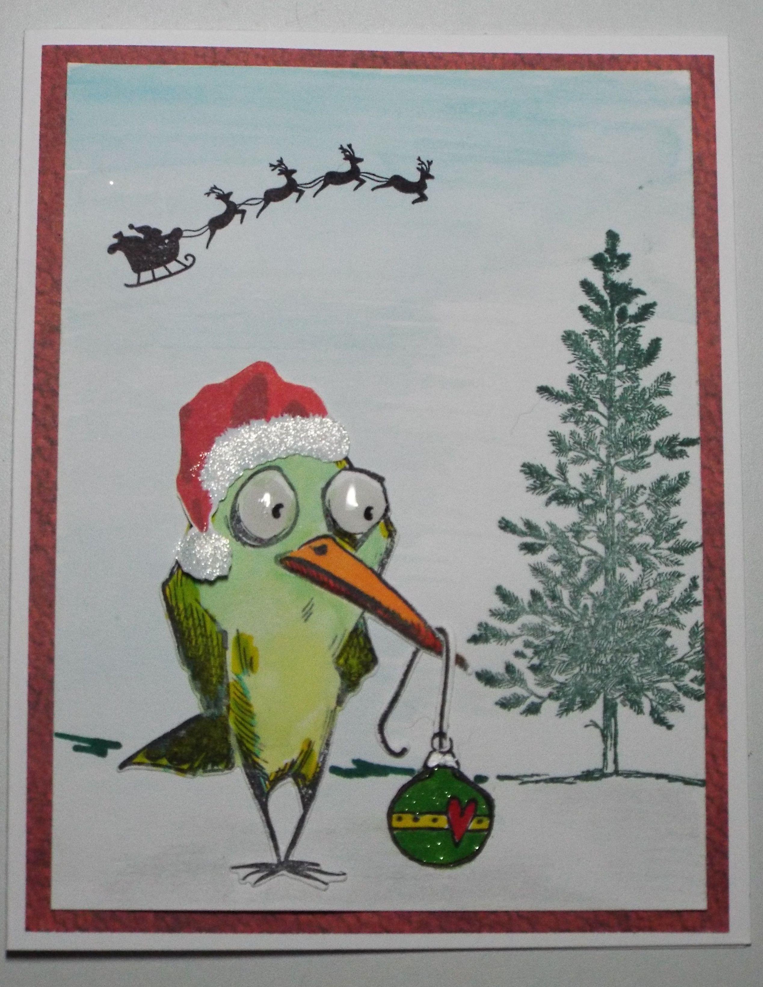 Christmas bird - Scrapbook.com | DARLA\'S CARDS 1 | Crazy bird ...