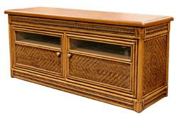 Rattan And Wicker TV Cabinets, TV Armoires, Etegeres, Tropical Display  Stands, Wall
