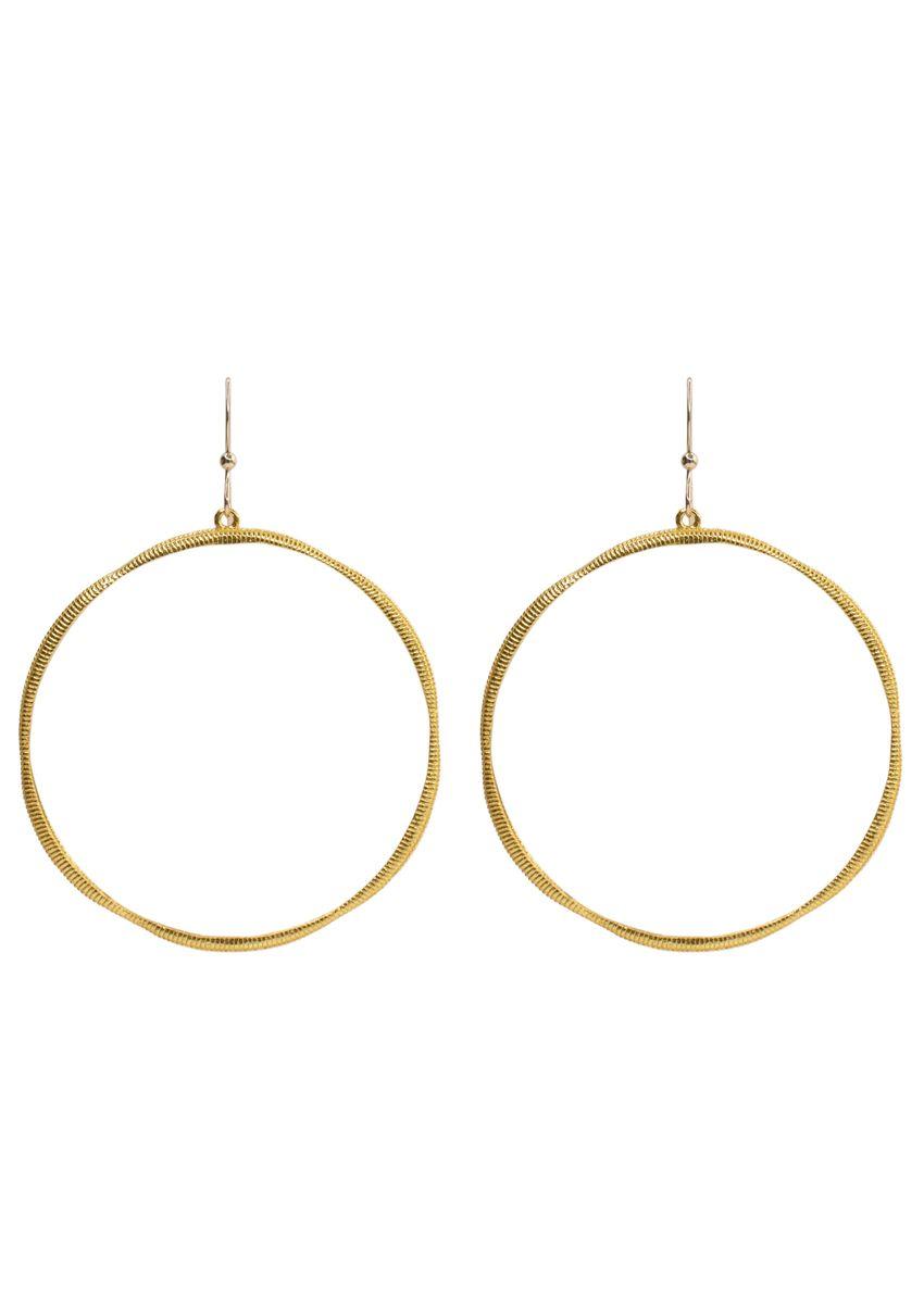 Photo of Richie gold drop hoop earrings