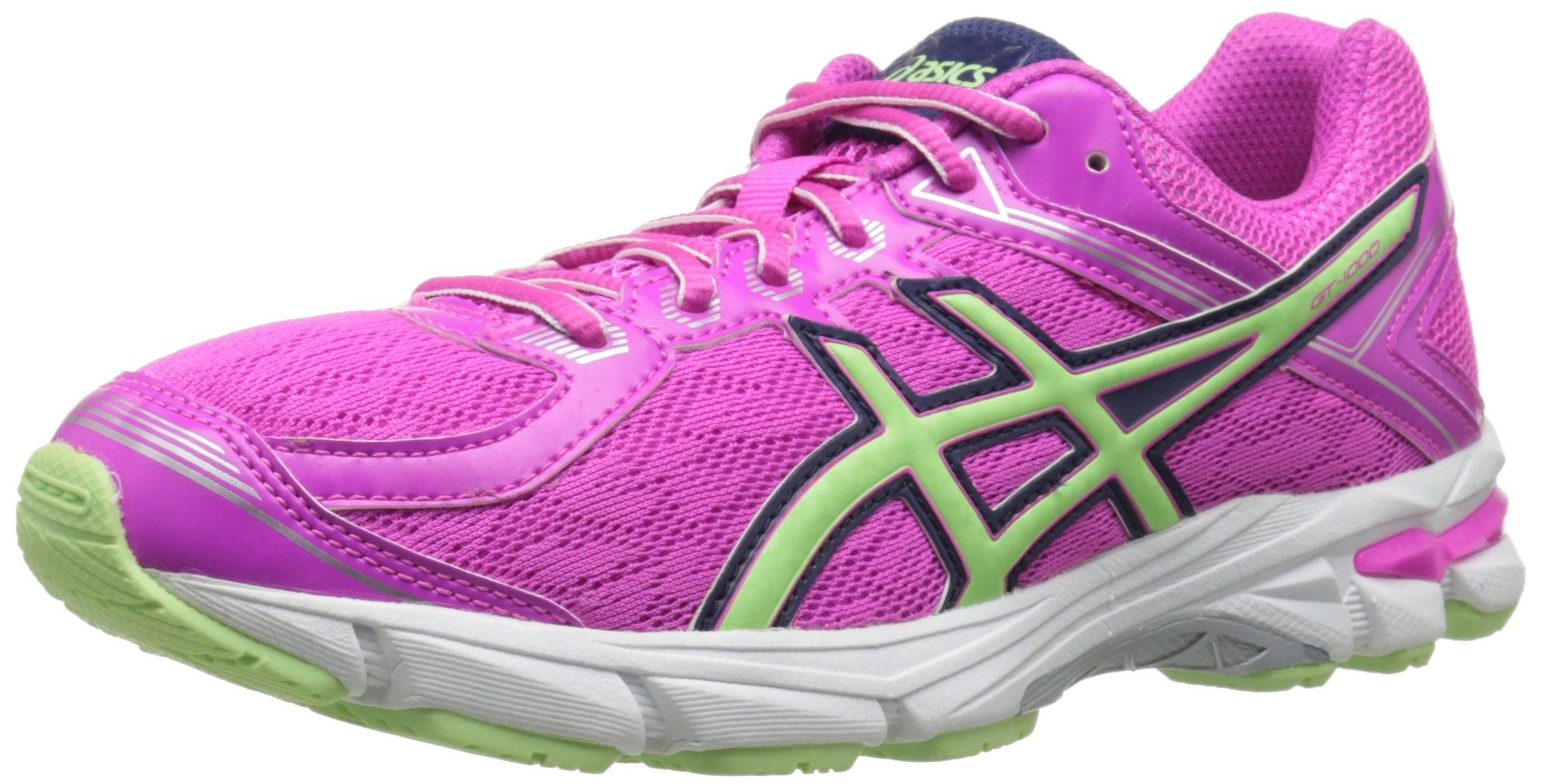Saucony Girls Cohesion 6 Lace Running Shoe (Little Kid),Grey/Magenta/Silver,1.5 W US Little Kid