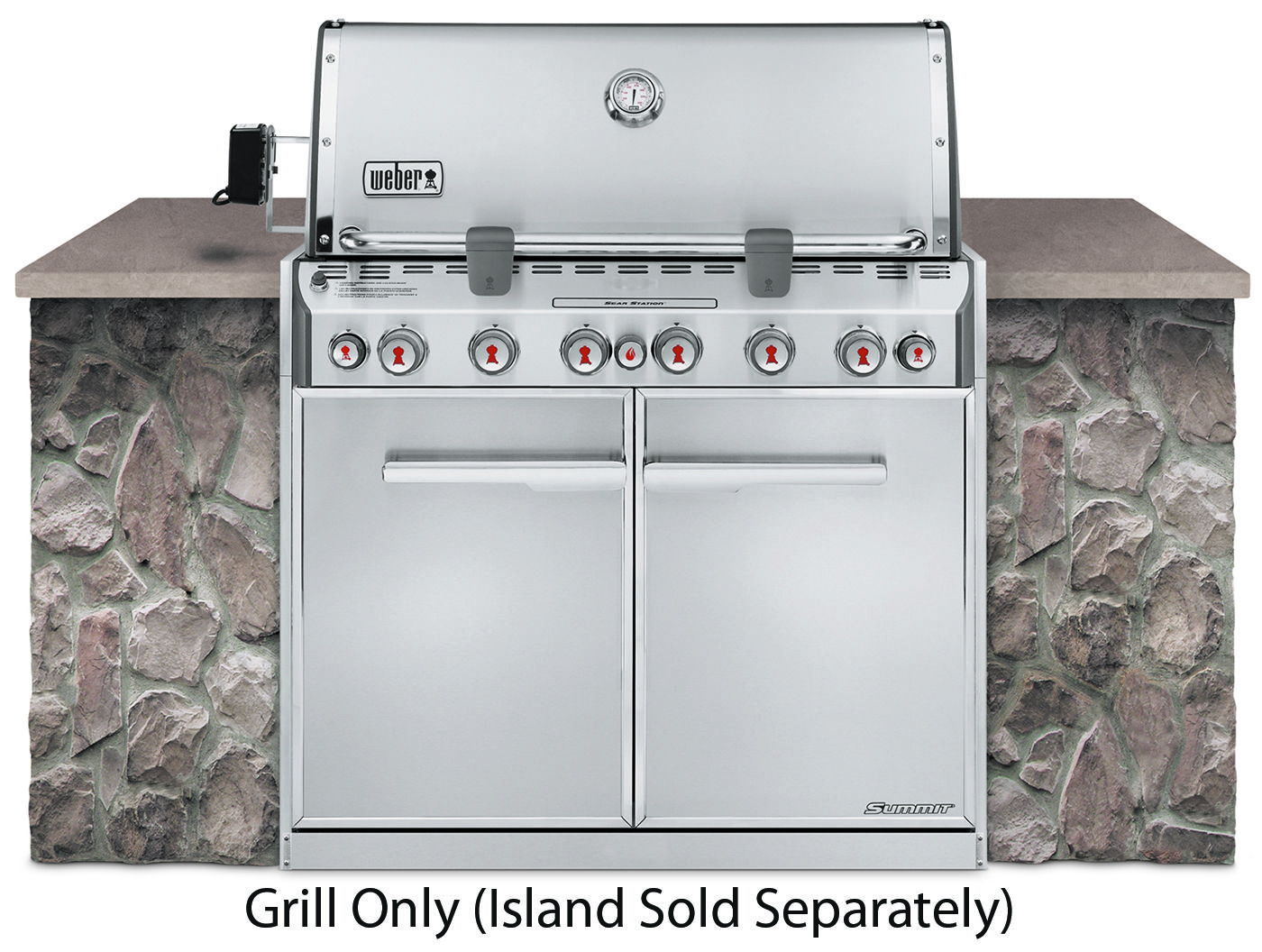 Weber Summit S 660 Built In Natural Gas Grill In 2020 Outdoor Kitchen Design Built In Grill Propane Gas Grill