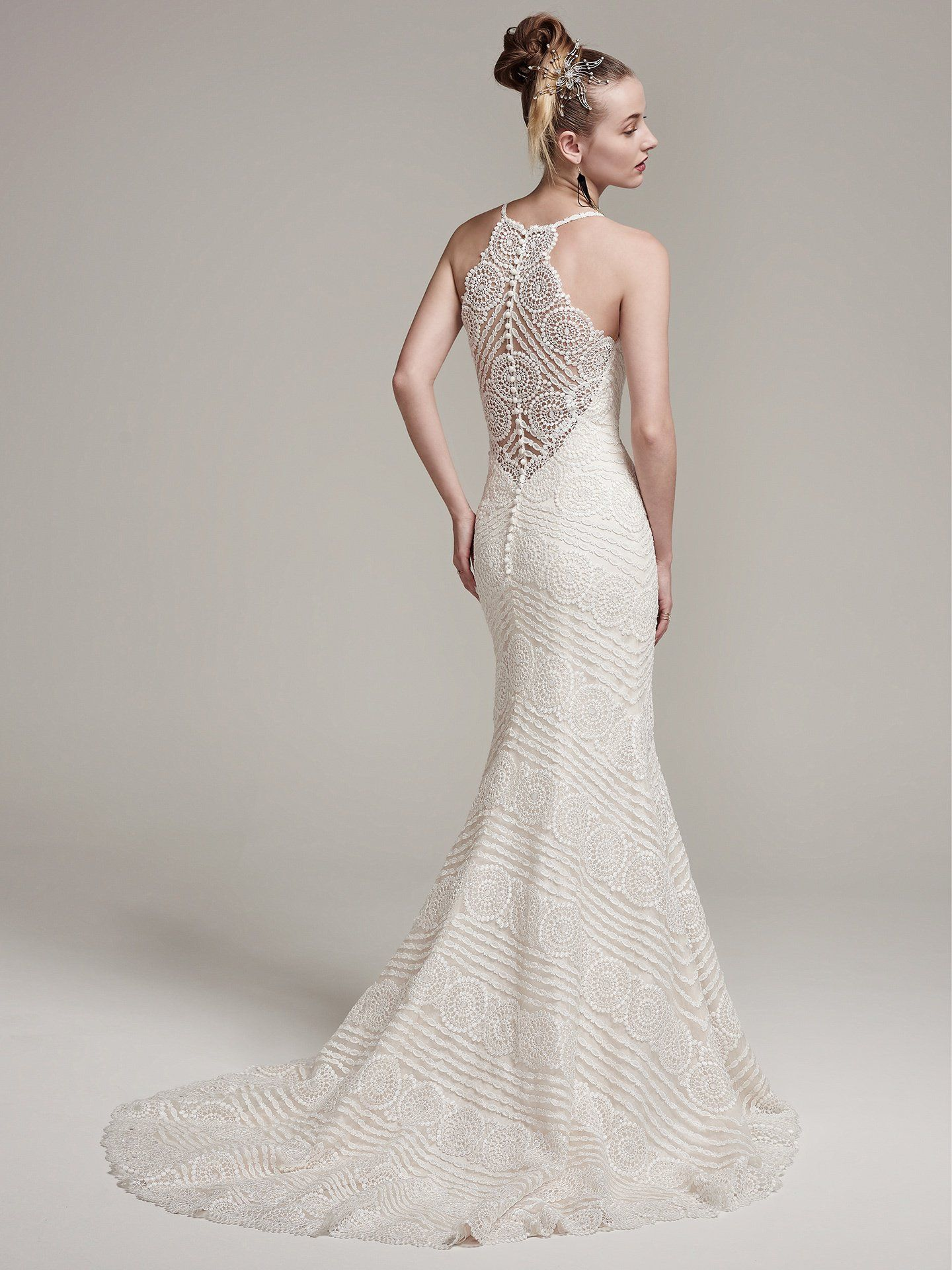 Maggie sottero wedding dresses wedding dress romantic and weddings bexley by sotteroandmidgley modern and romantic this lace sheath wedding dress with spaghetti straps ombrellifo Image collections