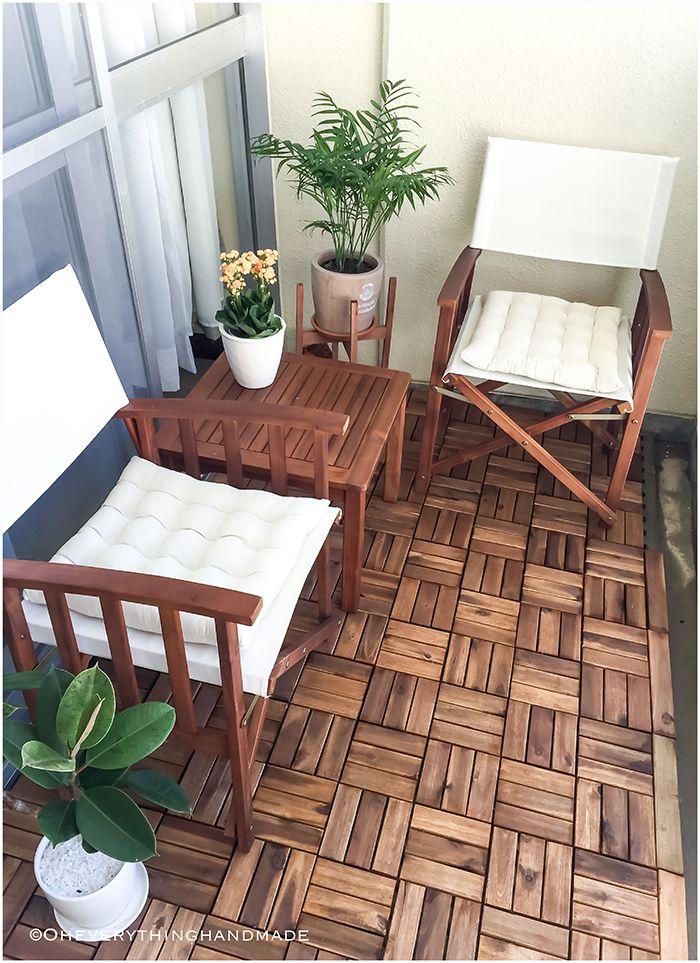 Small Balcony Makeover Diy Crafts And Projects Ideas Handmade Balcony Decor Balcony Furniture Small Balcony Decor