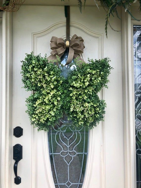 Photo of Greenery Butterfly wreath, all season wreath, wreath for front door, Butterfly wreath for any seadon