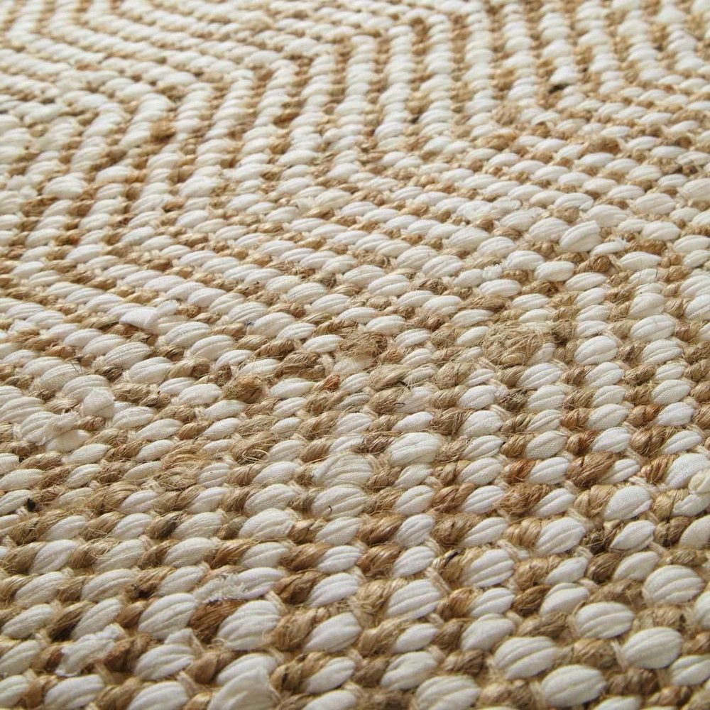 Cotton And Jute Rug 140 X 200 Home Decor Fabric Rug
