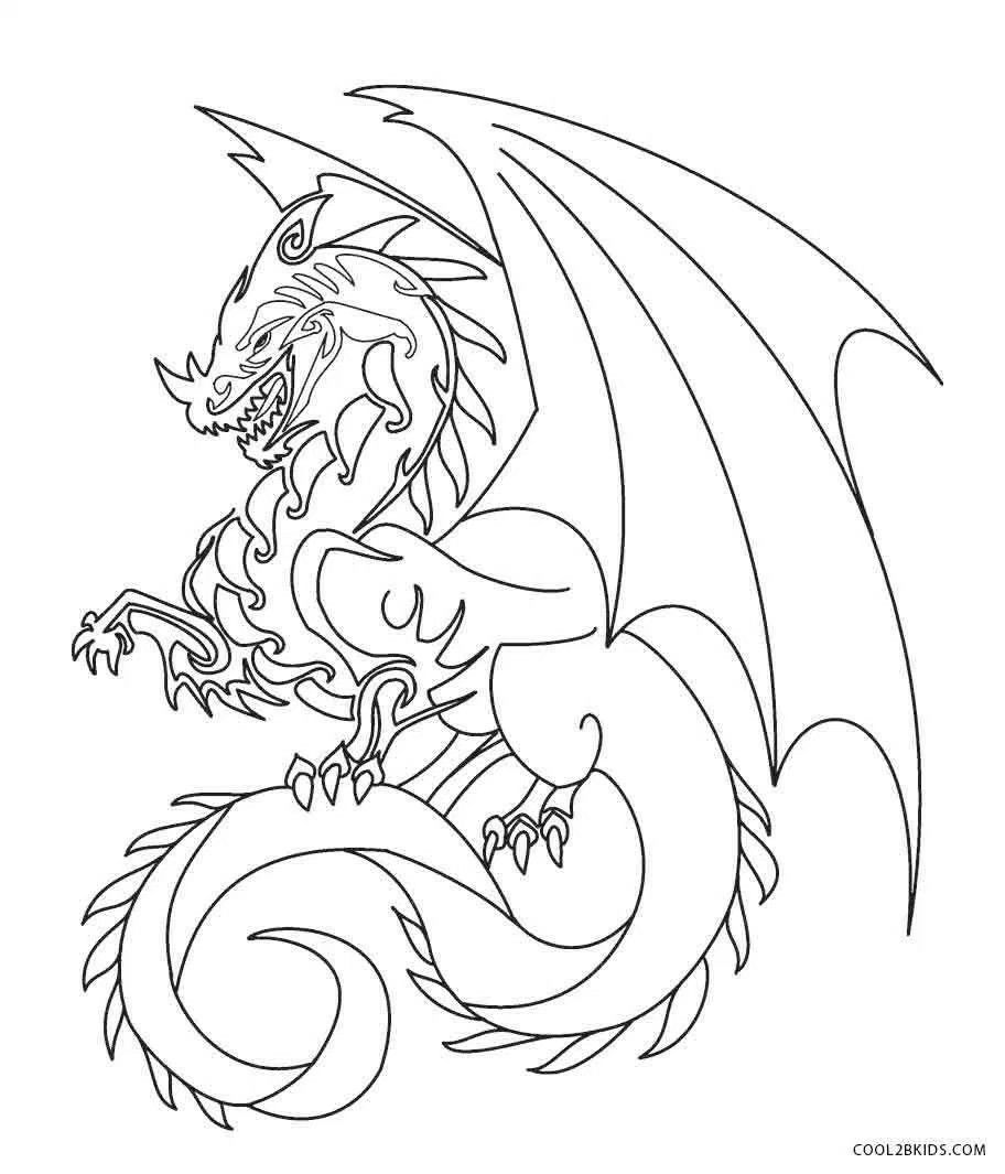 Pin by Toni Hastings on Graphics ♏ Dragon coloring page