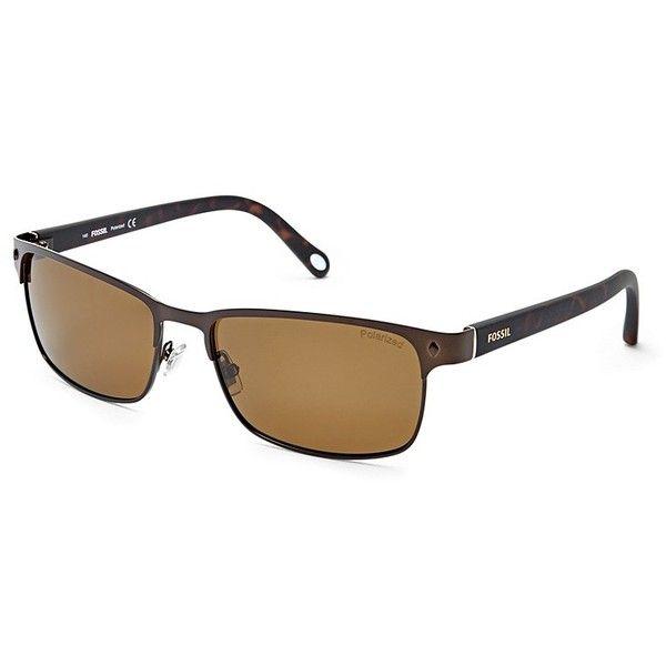795e86cd82 Fossil Neuta Polarized Wrap Sunglasses Fos3000pram ( 70) ❤ liked on  Polyvore featuring men s fashion